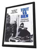 Tout va bien - 27 x 40 Movie Poster - French Style A - in Deluxe Wood Frame