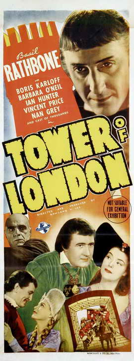 Tower of London - 14 x 36 Movie Poster - Insert Style A