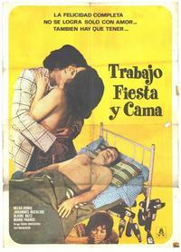 Trabajo Fiesta y Cama - 27 x 40 Movie Poster - Spanish Style A