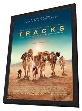 Tracks - 27 x 40 Movie Poster - UK Style A - in Deluxe Wood Frame