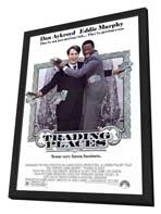 Trading Places - 27 x 40 Movie Poster - Style A - in Deluxe Wood Frame