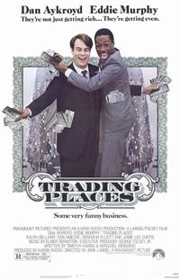Trading Places - 11 x 17 Movie Poster - Style A - Museum Wrapped Canvas