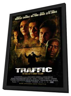 Traffic - 27 x 40 Movie Poster - Style A - in Deluxe Wood Frame