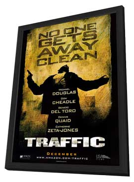 Traffic - 11 x 17 Movie Poster - Style B - in Deluxe Wood Frame