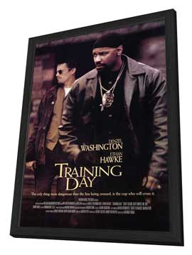 Training Day - 11 x 17 Movie Poster - Style A - in Deluxe Wood Frame