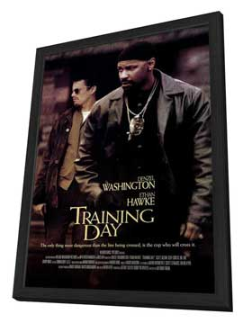 Training Day - 11 x 17 Movie Poster - Style C - in Deluxe Wood Frame