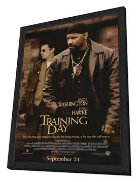 Training Day - 27 x 40 Movie Poster - Style A - in Deluxe Wood Frame