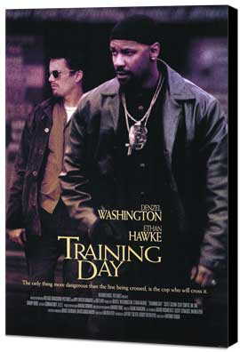 Training Day - 11 x 17 Movie Poster - Style A - Museum Wrapped Canvas