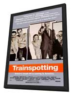 Trainspotting - 27 x 40 Movie Poster - Style A - in Deluxe Wood Frame