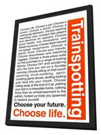Trainspotting - 27 x 40 Movie Poster - Style B - in Deluxe Wood Frame