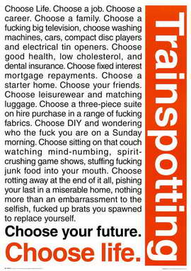 Trainspotting - 11 x 17 Movie Poster - Style B