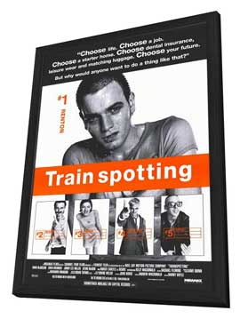Trainspotting - 11 x 17 Movie Poster - Style C - in Deluxe Wood Frame