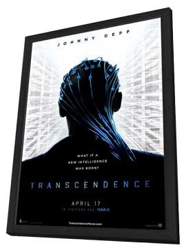 Transcendence - 11 x 17 Movie Poster - Style A - in Deluxe Wood Frame