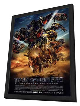 Transformers 2: Revenge of the Fallen - 27 x 40 Movie Poster - Style J - in Deluxe Wood Frame