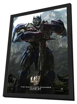 Transformers: Age of Extinction - 27 x 40 Movie Poster - Style A - in Deluxe Wood Frame