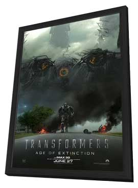 Transformers: Age of Extinction - 11 x 17 Movie Poster - Style G - in Deluxe Wood Frame