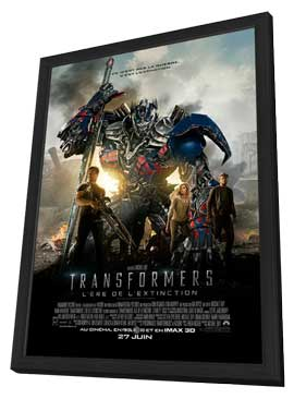 Transformers: Age of Extinction - 27 x 40 Movie Poster - Canadian Style A - in Deluxe Wood Frame