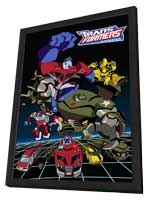 Transformers: Animated - 11 x 17 Movie Poster - Style B - in Deluxe Wood Frame