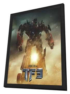 Transformers: Dark of the Moon - 11 x 17 Movie Poster - Style B - in Deluxe Wood Frame