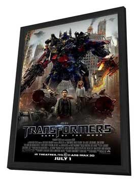 Transformers: Dark of the Moon - 11 x 17 Movie Poster - Style C - in Deluxe Wood Frame
