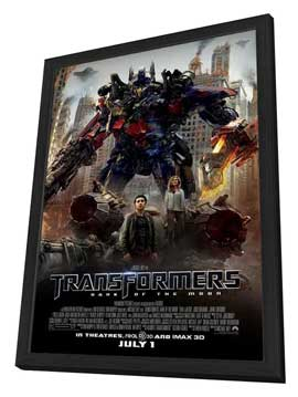 Transformers: Dark of the Moon - 27 x 40 Movie Poster - Style A - in Deluxe Wood Frame