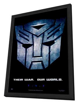 Transformers - 11 x 17 Movie Poster - Style B - in Deluxe Wood Frame