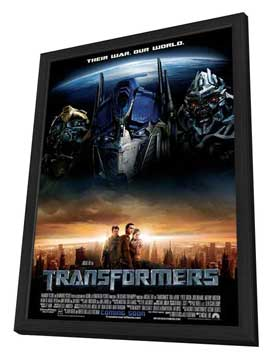 Transformers - 11 x 17 Movie Poster - Style H - in Deluxe Wood Frame