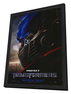 Transformers - 27 x 40 Movie Poster - Style F - in Deluxe Wood Frame