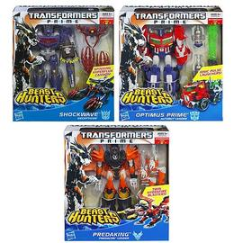 Transformers - Prime Beast Hunter Voyager Figures Wave 2 Case