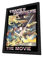 Transformers: The Movie - 27 x 40 Movie Poster - Style C - in Deluxe Wood Frame