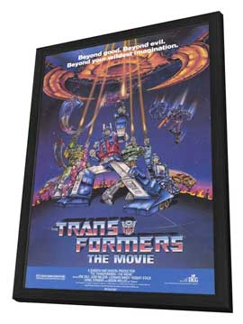 Transformers: The Movie - 11 x 17 Movie Poster - Style A - in Deluxe Wood Frame