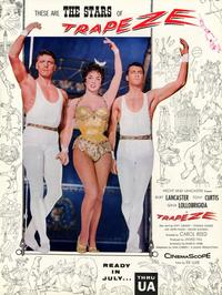 Trapeze - 11 x 17 Movie Poster - Style B