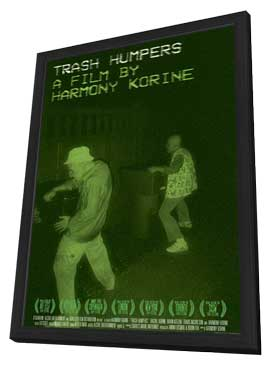 Trash Humpers - 11 x 17 Movie Poster - UK Style A - in Deluxe Wood Frame