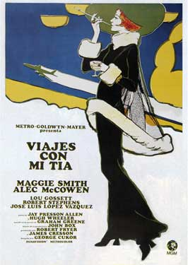 Travels with My Aunt - 11 x 17 Movie Poster - Spanish Style A