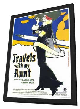 Travels with My Aunt - 27 x 40 Movie Poster - Style A - in Deluxe Wood Frame