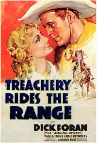 Treachery Rides the Range - 11 x 17 Movie Poster - Style A