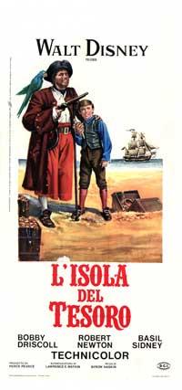 Treasure Island - 13 x 28 Movie Poster - Italian Style A