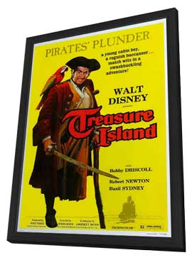 Treasure Island - 11 x 17 Movie Poster - Style A - in Deluxe Wood Frame