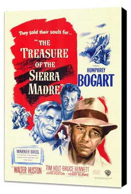 Treasure of the Sierra Madre - 11 x 17 Movie Poster - Style A - Museum Wrapped Canvas
