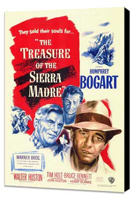 Treasure of the Sierra Madre - 27 x 40 Movie Poster - Style A - Museum Wrapped Canvas