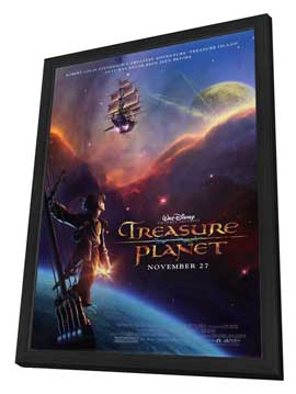 Treasure Planet - 27 x 40 Movie Poster - Style A - in Deluxe Wood Frame