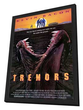 Tremors - 27 x 40 Movie Poster - Style A - in Deluxe Wood Frame