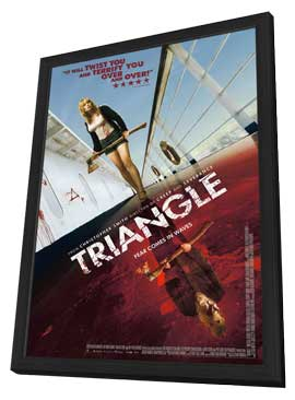Triangle - 11 x 17 Movie Poster - UK Style A - in Deluxe Wood Frame