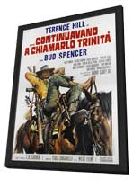 Trinity is Still My Name - 27 x 40 Movie Poster - Italian Style A - in Deluxe Wood Frame