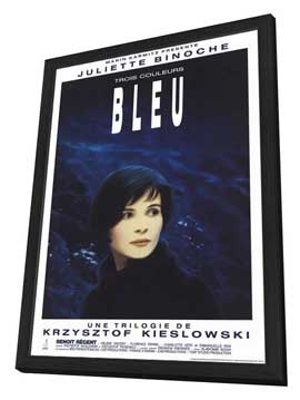 Trois Couleurs: Bleu - 27 x 40 Movie Poster - Style B - in Deluxe Wood Frame