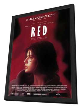 Trois Couleurs: Rouge - 27 x 40 Movie Poster - Style C - in Deluxe Wood Frame