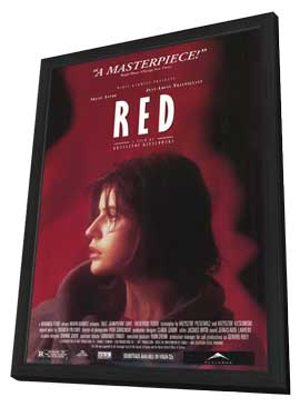Trois Couleurs: Rouge - 11 x 17 Movie Poster - Style B - in Deluxe Wood Frame