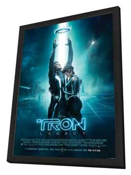 Tron Legacy - 27 x 40 Movie Poster - Style H - in Deluxe Wood Frame
