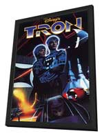Tron - 11 x 17 Movie Poster - Style F - in Deluxe Wood Frame