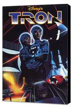 Tron - 27 x 40 Movie Poster - Style E - Museum Wrapped Canvas